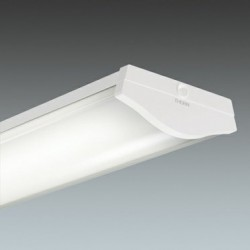 A range of curved profile linear fluorescent luminaires with clear or opal diffusers for surface or suspended mounting