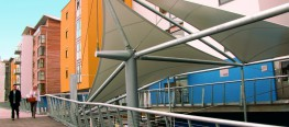 Fordingbridge specialise in designing and installing tensile fabric structures, which offer all the benefits and durability of more traditional canopies. A range of standard designs, including single, double and triple conic canopies and tensile walkways are...