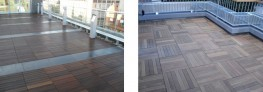 Hardwood Timber Decking Tiles image