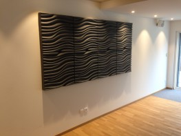 Fluid and intriguing with its deep undulating curves and dips, Wave acoustic panel brings movement and life to walls, making it a true feature in any room. The depth of panel is designed to give it a high absorption of sound resulting in a super-efficient 0.95...