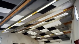 Class Acoustic  baffles and rafts - Soundtect Ltd.