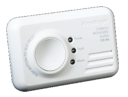 Carbon monoxide detector providing early warning of the presence of CO in your home through alarm and LED display 