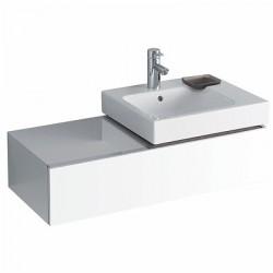3D 890 Vanity Unit - Rh Cutout - 1 Drawer - Alpine White image