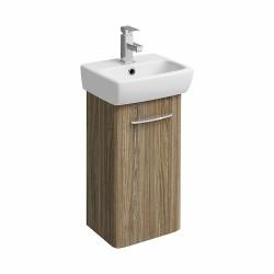 E100 Vanity Unit For Handrinse Basin 360X280Mm - Grey Ash Wood image