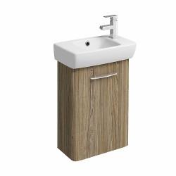 E100 Vanity Unit For Washbasin 450X250 Mm - Grey Ash Wood image
