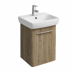 E100 Vanity Unit For Washbasin 500X420Mm - Grey Ash Wood image