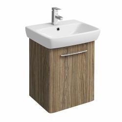 E100 Vanity Unit For Washbasin 550X440Mm - Grey Ash Wood image