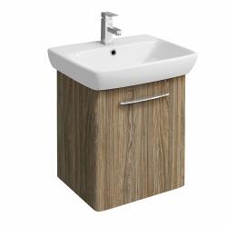 E100 Vanity Unit For Washbasin 600X460Mm - Grey Ash Wood image