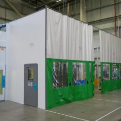 Flexicurtain - Retractable PVC curtain wall and door - Westgate