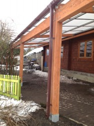 Tarnhow Mono Wall Mounted Timber Canopy - Able Canopies