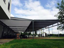 Grange Apex Solar Canopy - Able Canopies
