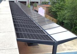 Kensington Dual-Pitch Solar Canopy - Able Canopies