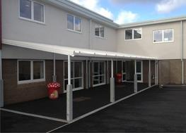 The Grange Junior is a cost-effective canopy solution that has a practical and simple design and is ideal for many areas where a wall mounted canopy is unsuitable. It is ideal for many organisation types including education, contractors, architects, specifiers...