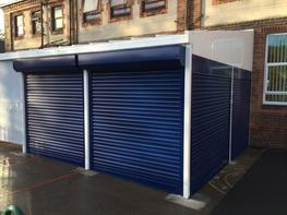 Able Canopies Free Standing and Wall Mounted Canopies can be fitted with secure roller shutters to create a lockable storage area or a more enclosed canopy structure.   These shutters are particularly suited to schools, nurseries and children centres as during...