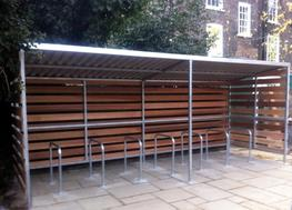 Grasmere Timber Clad Cycle Shelter - Able Canopies