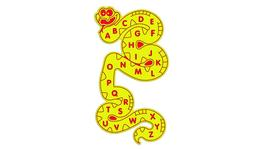 Alphabet Snake Wall Play Panel image