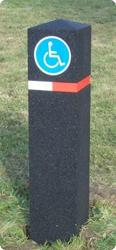 Car Park Bollards - With Reflective Signage - Able Canopies