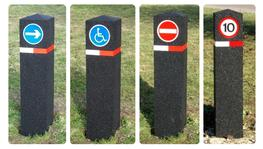 Car Park Bollards - With Reflective Signage image