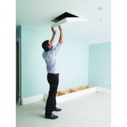 The Loft Hatch meets all building regulations for insulated and fire rated loft hatches and complies with Building Regulation Document L1 & L2 2002 and the robust document. Designed for domestic loft space access and to fit between 600mm centre trusses, the dr...