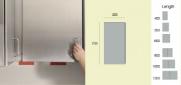 GEC Anderson Stainless Steel Wall Cabinets (V81 / V80D) image