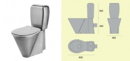 GEC Anderson V130 P Close-Coupled WC and Cistern With P-Trap image