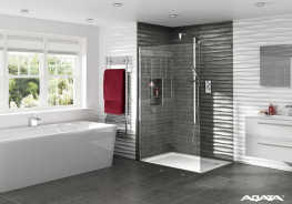 The Spectra SP400 Shower Screen in toughened 8mm clear glass is the ideal screen especially for a wet room. The Linneal LNB200 designer shower shown below has a built in screen brace which provides a support for the shower screen, combined with a luxury thermo...