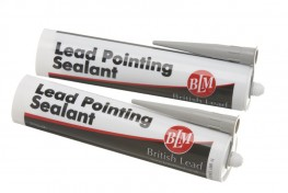 BLM Lead Pointing Sealant is specifically designed for pointing joints between Lead and masonry or brickwork; a low modular, non-corrosive, neutral cure silicone sealant which can be applied easily using a mastic gun.
