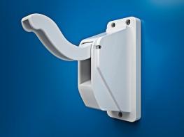 Wall Mountable Polycarbonate Anti-Ligature Coat Hook - Cardea Solutions (UK) Ltd