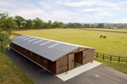 Cembrit B5 fibre cement corrugated sheets for equestrian and other single storey buildings available in 7 colours image