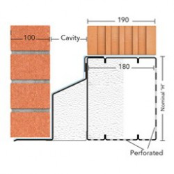 The Poro-Cav lintel features a unique, patented Ôthermal break plateÕ that aids to ensure the thermal performance of the wall is maintained.