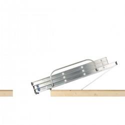 Abru Werner 3 Section Aluminium Sliding Loft Ladder image