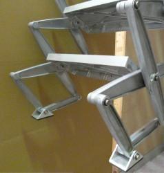 columbus junior aluminium concertina loft ladder by loft. Black Bedroom Furniture Sets. Home Design Ideas
