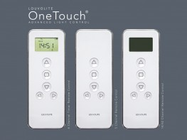 Louvolite One Touch® has been designed to offer choice and affordability for both domestic and commercial projects. The battery powered Magic Wand, attached at the edge, operates a blind max 2.4kg. The Lithium rechargeable 1100 series remote controls up to 42 blinds, max 3kg, from anywhere in the room, no installation wiring required. The AC mains powered 1500 and 6000 series are ideal for large, modern windows, lifting blinds up to 4m wide and 6m drops. Pair with Louvolite's high performance, flame retardant fabrics which are available as screens, dim outs or blackouts.