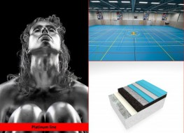 A high-end sports floor providing outstanding comfort and safety for intensive training and competition combined with outstanding resistance to mechanical loads.
