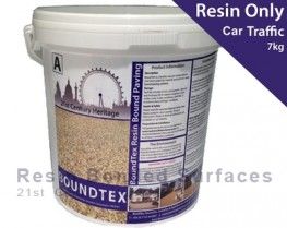 BoundTex is a flexible two-part solvent-free polyurethane hybrid resin binder used in conjunction with natural aggregates to provide a durable decorative surface for areas such as drives, footpaths, patios, courtyards etc