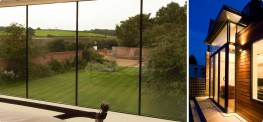 Vertical glazing describes the use of vertical panels of glass, usually running from floor to ceiling. These can be installed alone, between solid walls; or as part of a glass enclosure or structural glazing project.