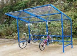 Lightweight bike shelter image