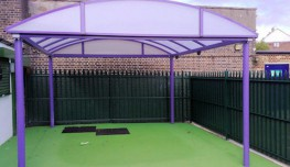The Ascot barrel vault design uses a single rolled tubular box section for the roof arches giving a clean line to the roof. The ascot can be clad in either polycarbonate or flame retardant fabric.The Ascot barrel vault design uses a single rolled tubular box ...