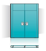 Commandoor full glass with Multi Electric image