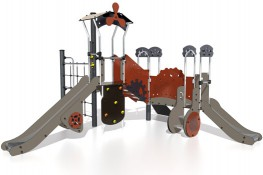The Metropolis range welcomes children into the world that draws its inspiration from the books of science fiction writers such as Jules Verne and HG Wells. The play structures are weird and wonderful machines each complete with unique design details and imagi...