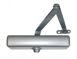The LCN 1260 Series combines the best features from the previous 1070 and 1370 series into a single versatile and economical cast iron closer, with dual mounting capability. The 1261P is adjustable through spring sizes 1-5 and mounts to the most common commercial footprint. The 1260 Series also features a complete line of regular and extra duty arms and LCN's peel-n-stick installation templates.
