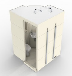 SECTIONAL DESIGNAlternative sizes availableIntegral shower waste, soap dish and doorShower fitments, lighting, sanitary ware and extraction to suitDimensions:1575(w) x 1530(d) x 2250(h)...