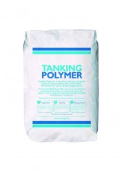 Tanking Polymer - 20kg bag. Tanking Polymer is the ideal solution for below ground waterproofing and vertical DPC membrane for above ground applications.  Flood Angel® Approved Tanking Polymer is a cementitious waterproofing polymer containing an acrylic po...