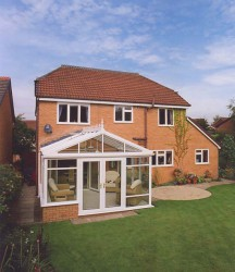 A gable-end conservatory can add real grandeur to your home. Gable-end conservatories date back to the Georgian style, of which modern gable-end conservatories are a variant. With a gable-end conservatory, the front of the roof doesn't slope back to the centre...