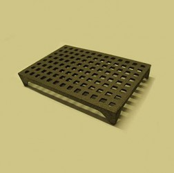 9 x 6 Square Hole Air Brick with choice of finishes, bare or painted black.