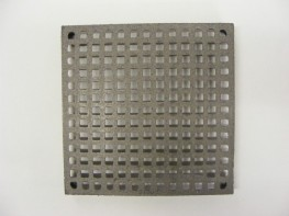 9 x9 Square Hole Air Brick with choice of finishes, bare as standard or painted black.