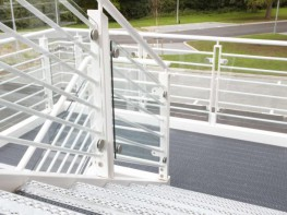 Bespoke Stair tread available with or without a removable nosing & riser plate. Manufactured from the O5 plank pattern which benefits from 5mm dia raised/depressed holes providing a stiletto proof, non-slip surface (PTV79); ideal for public & institutional typ...