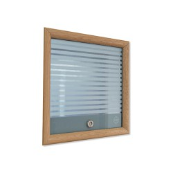 The Visilux is the original high quality, versatile vision panel that combines toughened glass and top quality components to compliment any healthcare environment. or patient thumb turn aligns the frosted bands on the glass allowing vision through the door.