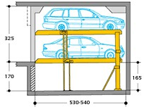 Horizontal platforms provide easy access and exit, and also make it easier to get in and out of the car.If overall headroom is available, systems with higher clearances between platforms can be supplied variants.Single units for 2 cars and double units for 4 c...