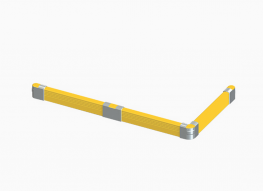 Engineered from solid ductile iron and maintenance-free polypropylene, our Crash Barrier ensures heavy equipment doesn't stand a chance of damaging your walls or facility. Crash Barrier is also ideal for creating traffic lanes, framing off areas protecting c...